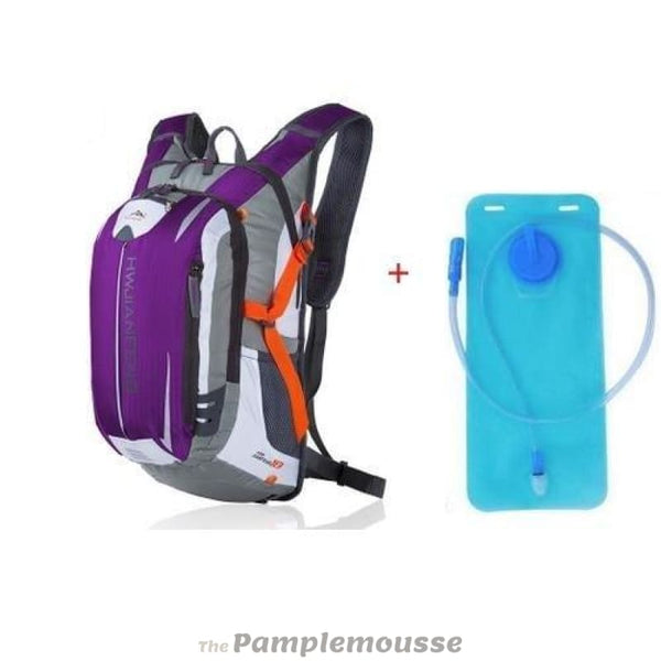 18L Sports Water Bladder Hydration Backpack Outdoor Running Trail Climbing Cycling Hiking Camelback - Purple - Free Shipping - Outdoor -