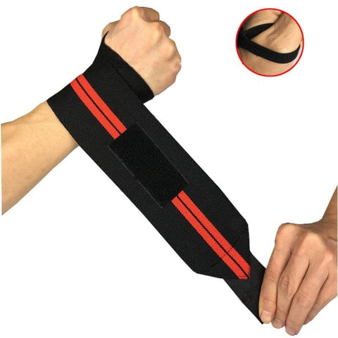 2 Pieces Adjustable Elastic Wristband Breathable Wrist Support Brace Wrist Wraps Bandages For Workout Weightlifting - Free Shipping - Sports