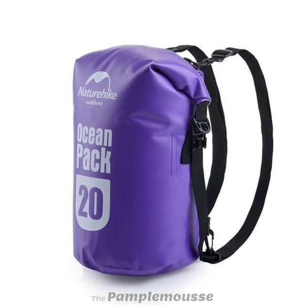 20L-30L Ultralight Outdoor Swimming Storage Floating Backpack Waterproof Camping Snorkeling Rafting Dry Bag - Purple / 20L - Free Shipping -