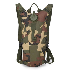2L Tactical Army Molle Hydration Pack Water Bladder Camping And Hiking Waterproof Wearable Military Nylon Hydro Bag - Jungle - Free Shipping