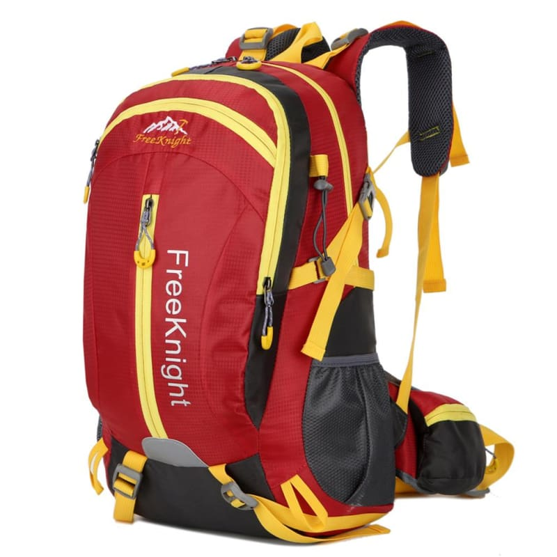 30L Nylon Water Resistant Climbing Camping Hiking Backpack Camping Outdoor  Sport Large Travel Bag - Red 09306cae0d999
