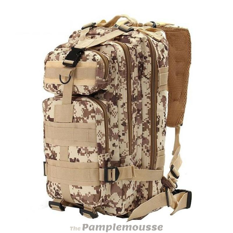 c57b8b4b82 30L Outdoor Neutral Adjustable Military Tactic Backpack Rucksacks Hiking  Travel - Brown - Free Shipping -