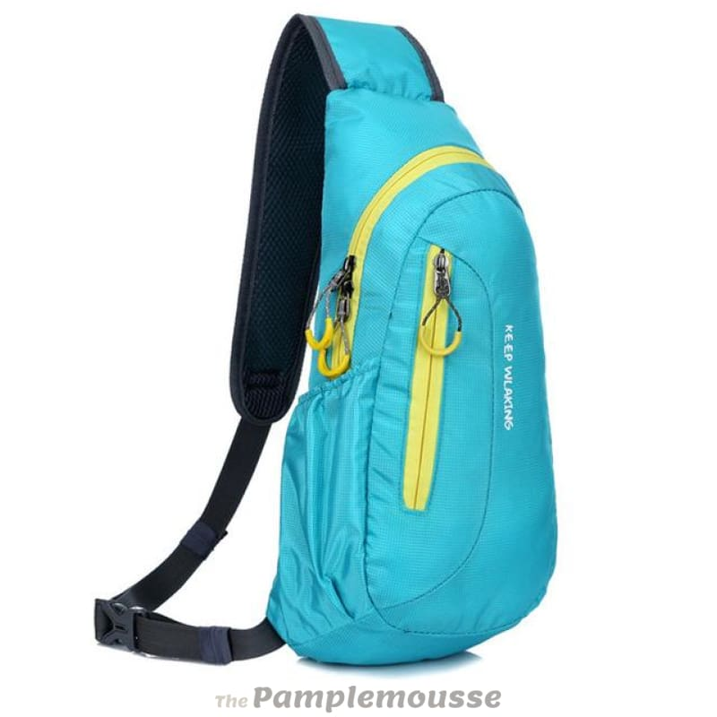 4 Colors Waterproof Outdoor Small Travel Backpack Shoulder Rucksack For  Women And Men - Blue -