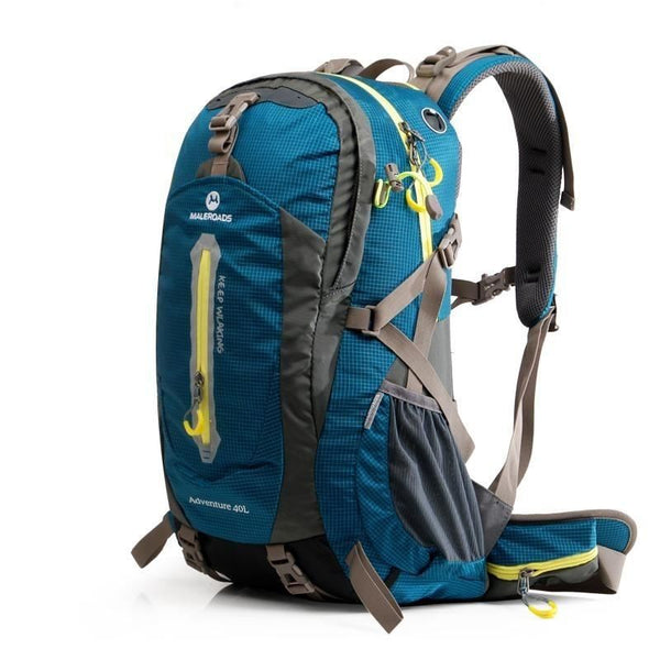 50-70L Travel Sport Outdoor Backpack Camping Hiking Waterproof Zipper Rucksack Luggage Bag - Peacock Blue / 30 - 40L - Free Shipping -