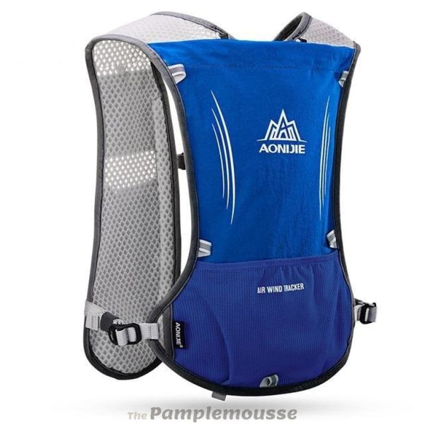 5L Trail Running Cycling Backpack For 1.5L Waterbag Vest Water Bottle Hydration Sport Bag - Blue - Free Shipping - Outdoor - Outdoor -