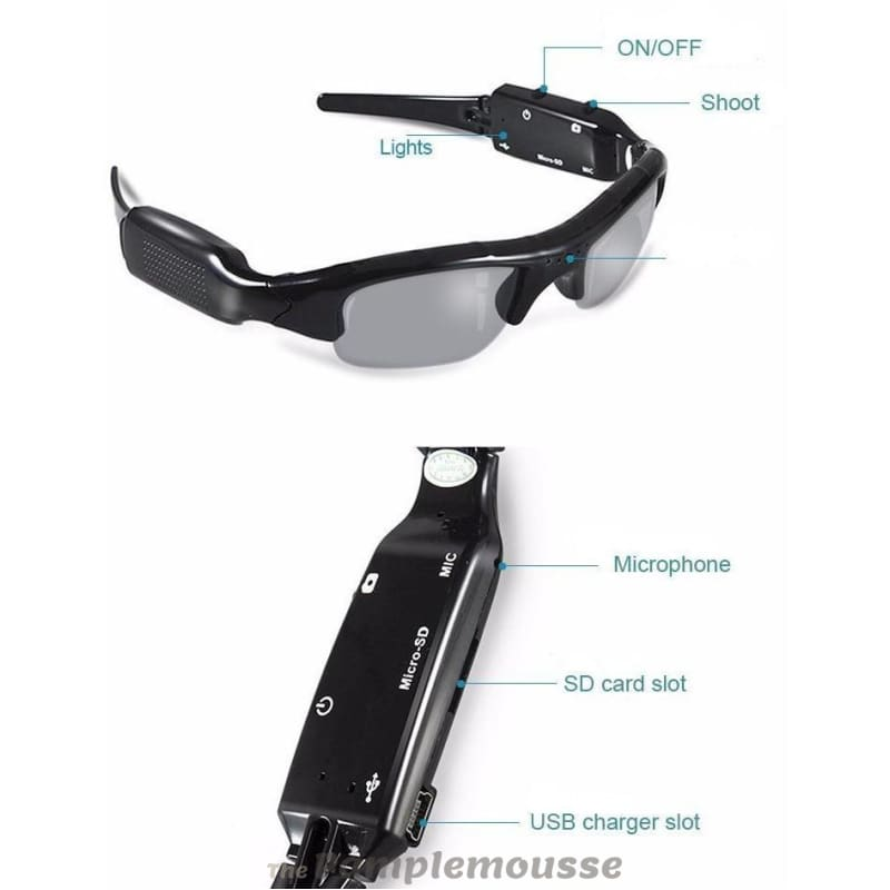 c2bf7cf3fe 720P Hd Hidden Mini Digital Camera Sunglasses Riding Glasses With Video  Recording Function - Free Shipping