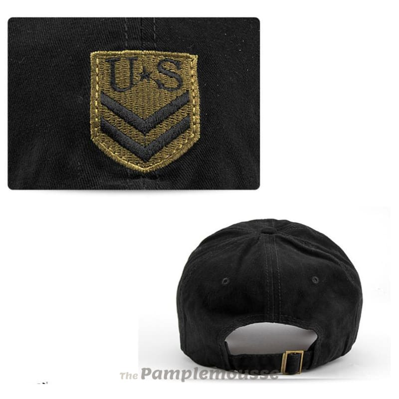Adjustable Tactical Cap Army Military Hat With Us Patch For Hunting Combat  Airsoft Paintball Baseball Shooting c38b60d9069