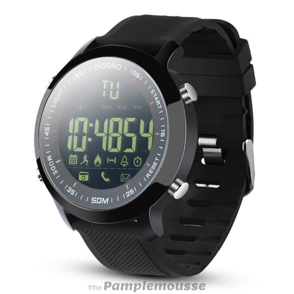 Best Smart Watch Ip68 Waterproof 5Atm Pedometer Message Reminder Long Standby Time Outdoor For Android Ios - Black - Free Shipping -