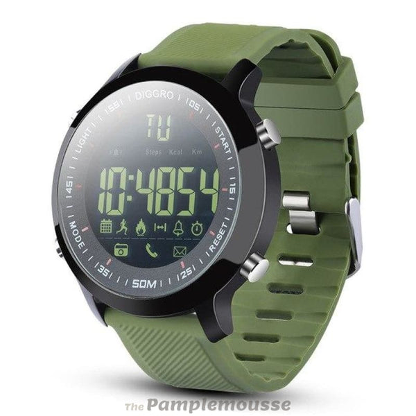 Best Smart Watch Ip68 Waterproof 5Atm Pedometer Message Reminder Long Standby Time Outdoor For Android Ios - Green - Free Shipping -