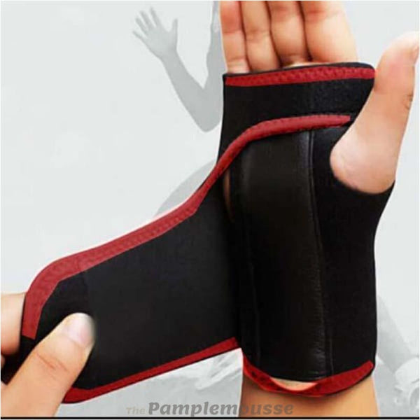 Best Wrist Support Splint Carpal Tunnel Wrist Stabilizer Hand Wrist Solid Support Brace - Red / Left Hand - Free Shipping - Sports -