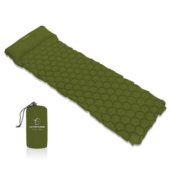 Camping Inflatable Sleeping Pad With Pillow - Air Mattress Cushion Sleeping Mat - Free Shipping - Outdoor - Gear - $39.00 | The Pamplemousse