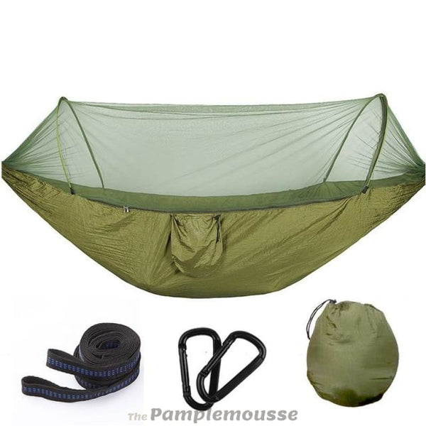 Double Camping Hammock Outdoor 2 Person Portable Survival Hammock With Mosquito Net - Army Green / 290*140 Cm - Free Shipping - Outdoor -