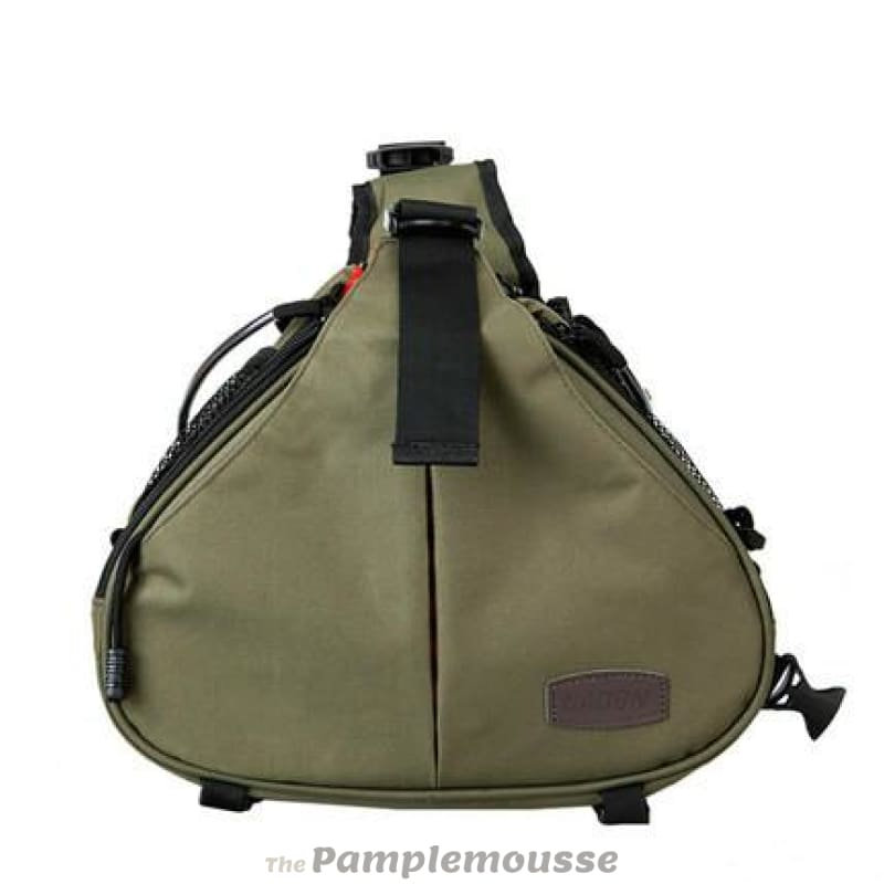 Dslr Camera Sling Backpack Padded Shoulder Bag Case Cover For Canon Nikon  Sony - Army Green 3078abfdcb517