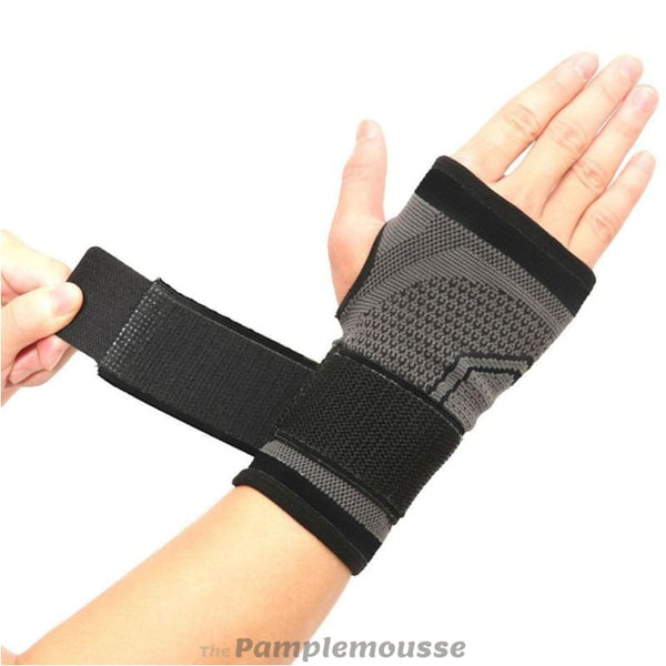 High Elastic Wrist Strap Support Brace Sports Wrist Bandage Fitness Hand Palm Brace Wrist Protector - Black / M - Free Shipping - Sports -