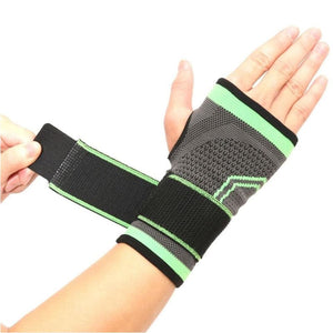 High Elastic Wrist Strap Support Brace Sports Wrist Bandage Fitness Hand Palm Brace Wrist Protector - Green / M - Free Shipping - Sports -