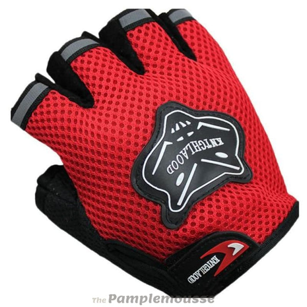 High-Quality Outdoor & Sports Gloves Winter Half Short Cycling Fitness Gloves Finger Nylon Gloves - Red - Free Shipping - Sports -