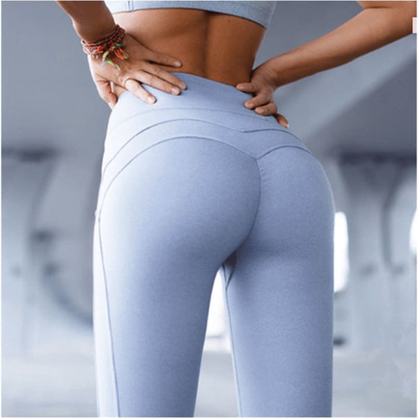 High Waisted Leggings Hot Yoga Pants Booty Up Sports Leggings Stretch Workout Hip Push Up Yoga Pants - Free Shipping - Sports - Clothing -
