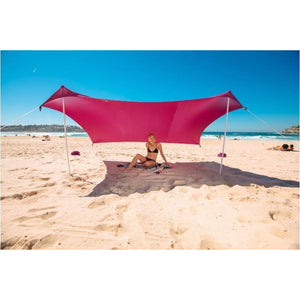 Large Beach Canopy Upf50+ Lycra Fabric Sunshade Beach Shelter Tent With Sandbag Anchors - Free Shipping - Outdoor - Gear - $99.00 | The