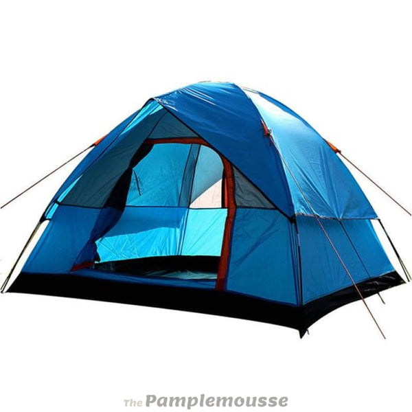 Large Capacity 3-4 Person 4 Season Double Layer Outdoor Camping Tent - Blue - Free Shipping - Outdoor - Gear - $99.00 | The Pamplemousse