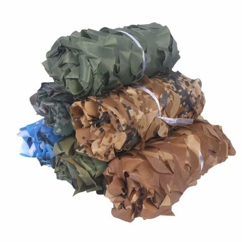 Large Size Military Camouflage Nets Tactical Woodland Blue Army Green Desert Camo Car Cover Tents - Free Shipping - Outdoor - Gear - $25.00