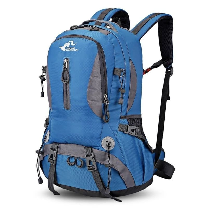 Lightweight 30L Waterproof Outdoor Camping Hiking Mountaineering Backpack  Trekking Climbing Sport Travel Bag - Blue - b098bc17f99cd