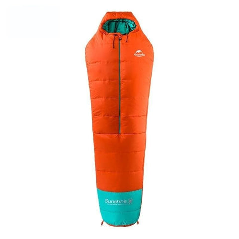 Lightweight Outdoor Mummy 0-10 Degree Cotton Sleeping Bag Middle Zipper Closure For Camping Hiking Backpacking - Free Shipping - Outdoor -