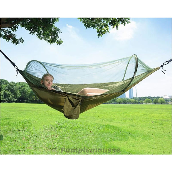 Lightweight Portable Camping Hammock With Bug Net Easy Setup Army Hanging Hammock - Army Green - Free Shipping - Outdoor - Gear - $39.00 |