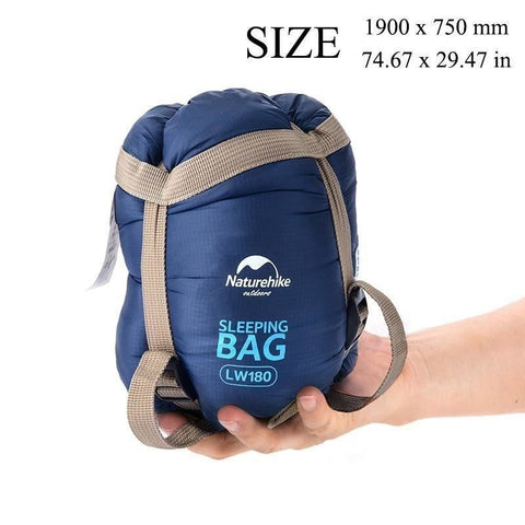 Lightweight Sleeping Bag Ultralight Outdoor Gear 10°C Envelope / Rectangular For Camping Hiking - Dark Blue - Free Shipping - $39.90 | The