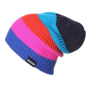 Lightweight Unisex Striped Winter Hats 5 Colors Men Women Warm Ski Beanie - D - Free Shipping - Outdoor - Accessories - $13.00 | The