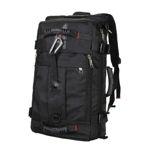 Men Backpack Canvas Multifunction Travel Bag Zipper Black - Free Shipping - Accessories - Bags - $49.00 | The Pamplemousse