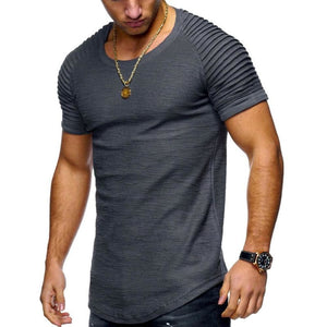 Men Fashion Summer Vintage Biker Style Crew-Neck Long Tee - Gray / Xxl - Free Shipping - Fashion - Clothing - $24.00 | The Pamplemousse