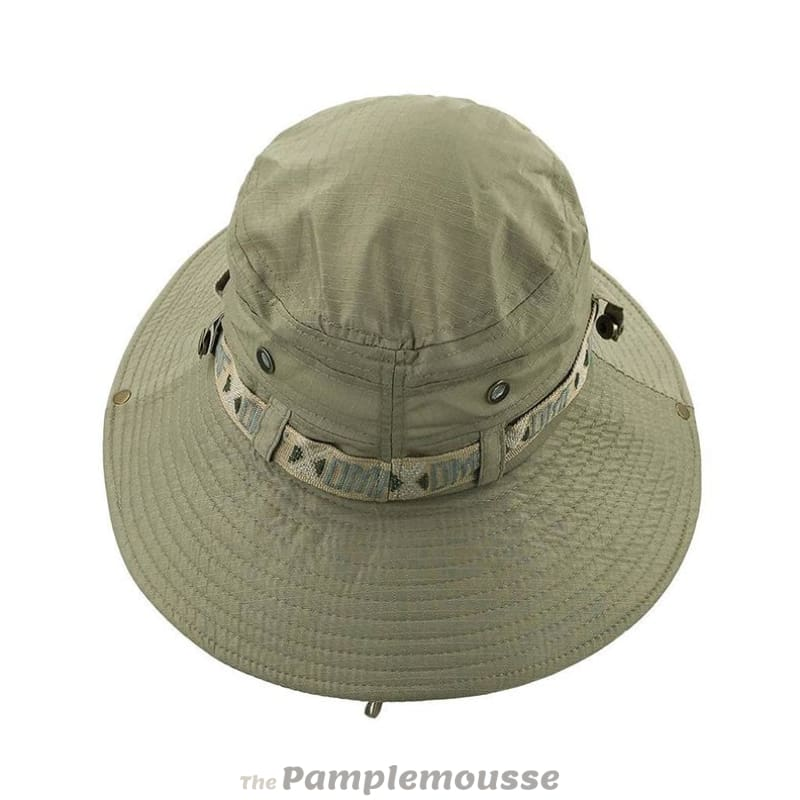 e335e8f063f Men Fishing Sun Boonie Hat Waterproof Summer Uv Protection Safari Cap  Outdoor Hunting Hat - Free