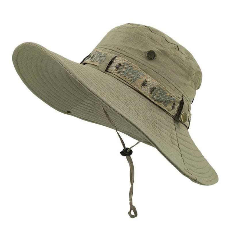 Men Fishing Sun Boonie Hat Waterproof Summer Uv Protection Safari Cap  Outdoor Hunting Hat - Light d7d43013e3d0