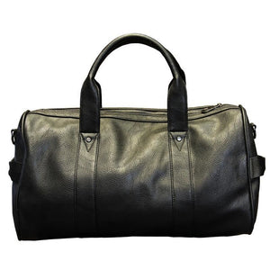 Men High Quality Leather Large Capacity Weekend Bag - Black - Free Shipping - Accessories - Bags - $59.00 | The Pamplemousse