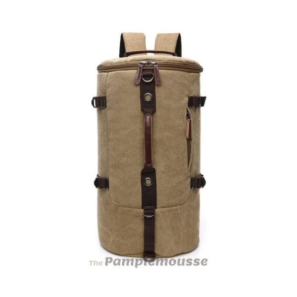 Men Large Capacity Canvas Hiking Camping Travel Duffle Bag Adventure Barrel Bag Backpack - Free Shipping - Outdoor - Bags - $29.00 | The