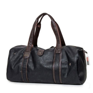 Men Large Capacity Leather Travel Handbag Zipper - Black - Free Shipping - Accessories - Bags - $39.00 | The Pamplemousse