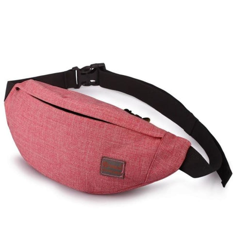 Men Leisure Waist Pack Money Belt Bag Casual Wateproof Fanny Bag Chest Bag - Red - Free Shipping - Accessories - Bags - $14.00 | The