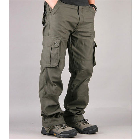 Men Military Design Multi-Pocket Cargo Pants - Army Green / 30 - Free Shipping - Fashion - Clothing - $38.00 | The Pamplemousse