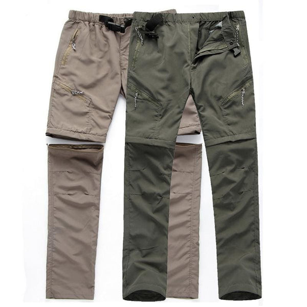 Men Multifunction Waterproof Hiking Pants Outdoor Camping Trekking Trousers - Army Green / S - Free Shipping - Outdoor - Clothing - $19.00 |
