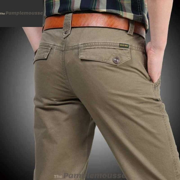 Men Original 100% Pure Cotton Military Cargo Pants - Khaki / 36 - Free Shipping - Fashion - Clothing - $40.00 | The Pamplemousse