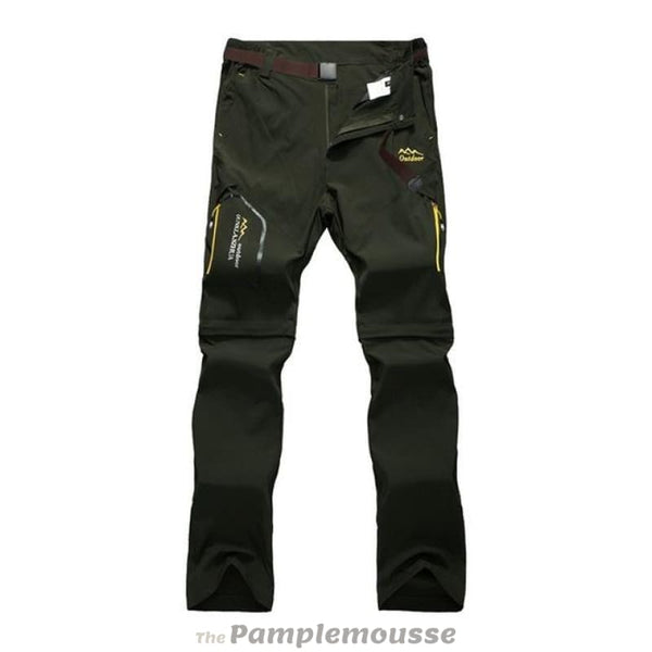 Men Quick Dry Trekking Pants Outdoor Male Hiking Removable Trousers Pants Shorts - Army Green / S - Free Shipping - Outdoor - Outdoor -
