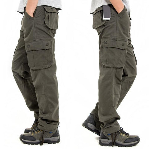 Men Superior Cotton Work Cargo Pants - Army Green / 34 - Free Shipping - Fashion - Clothing - $40.00 | The Pamplemousse