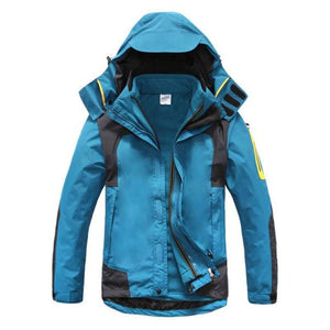 Men Windproof Warm 3-In-1 Hooded Jacket - Blue / S - Free Shipping - Outdoor - Outdoor - $99.00 | The Pamplemousse