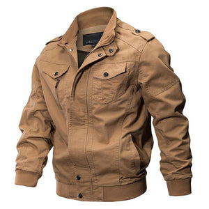 Men Winter Military Thick Cotton Flight Jacket - Khaki / Xl - Free Shipping - Fashion - Clothing - $69.00 | The Pamplemousse