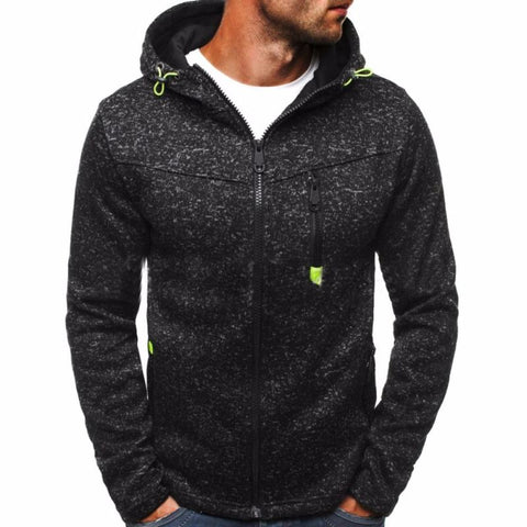 Men Winter Slim Hoodie Warm Hooded Sweatshirt Coat Jacket Outwear Sweater - Black / L - Free Shipping - Fashion - Clothing - $19.00 | The