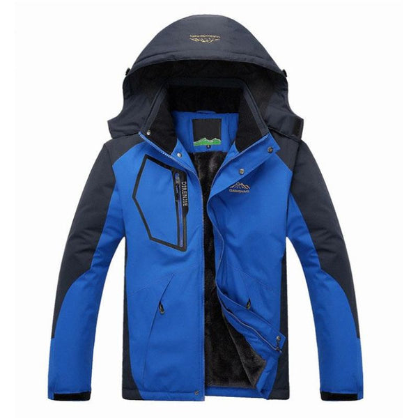 Men Winter Solid Colored Top Quality Hooded Thick Warm Jacket - Blue / Xl - Free Shipping - Outdoor - Outdoor - $58.00 | The Pamplemousse