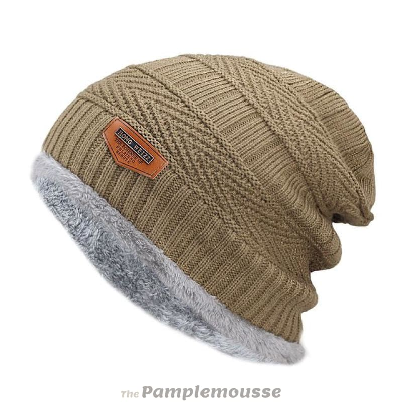 a089b81c1a7 Men Winter Warm Knitted Thick Soft Stretch Slouchy Beanie - Khaki - Free  Shipping - Fashion