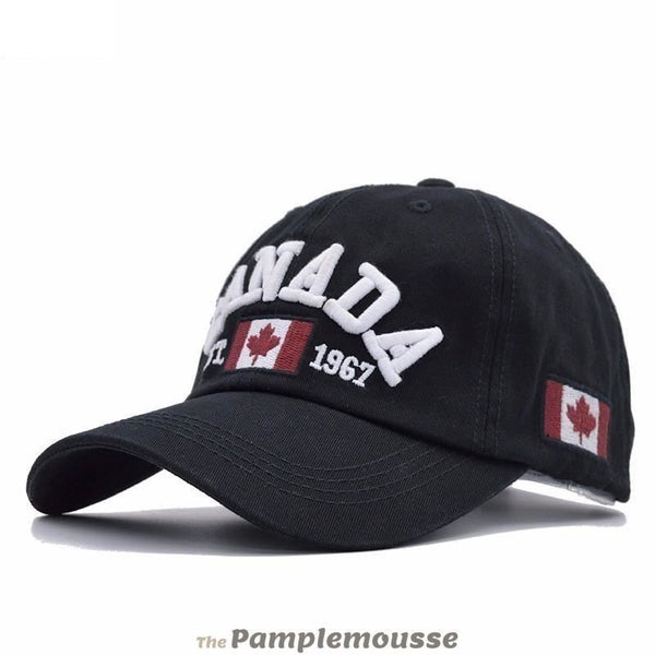 Men & Women Cotton Canada Adjustable Baseball Cap - Black - Free Shipping - Fashion - Accessories - $11.90 | The Pamplemousse