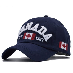 Men & Women Cotton Canada Adjustable Baseball Cap - Dark Blue - Free Shipping - Fashion - Accessories - $11.90 | The Pamplemousse