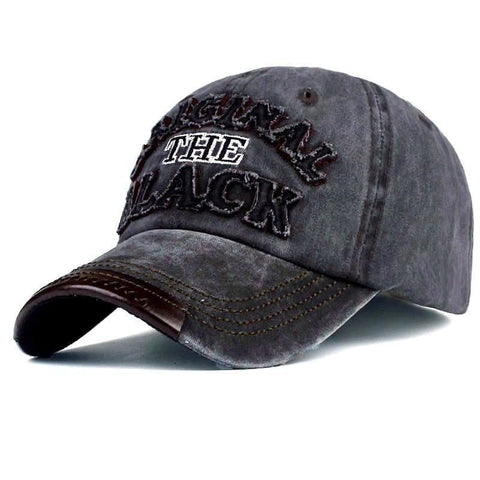Men & Women Retro Vintage Denim Baseball Cap Letter Embroidery - Black - Free Shipping - Fashion - Accessories - $11.90 | The Pamplemousse